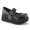 SPRITE-05 Black Vegan Leather/Patent